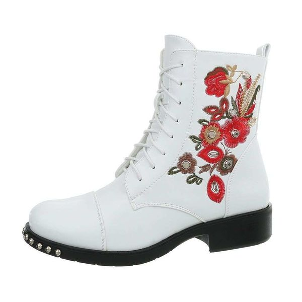 Cowboy Ankle Boots -White
